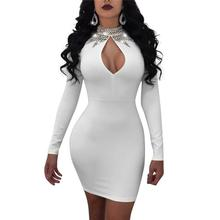 Summer 2018 Woman Halter Sexy White Women Sequin Bodycon Dress Celebrity  Evening Party Dress Vestidos Clubwear f3fe503f0b06