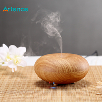 Artistical Ultrasonic Essential Oil Aromatherapy Diffuser Wood Grain Air Humidifier For Home Office Yoga Spa Mini
