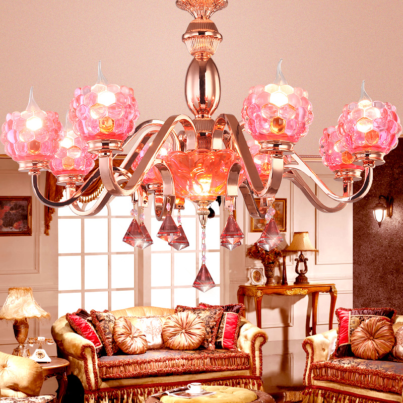 Rose Gold Plated K9 Crystal pendant light Pink Gold pendant lamp Beautiful fashion pomegranate droplight 110-220V ceiling E14 crystal дезoдорант спрей гранат crystal sprey pomegranate 118мл