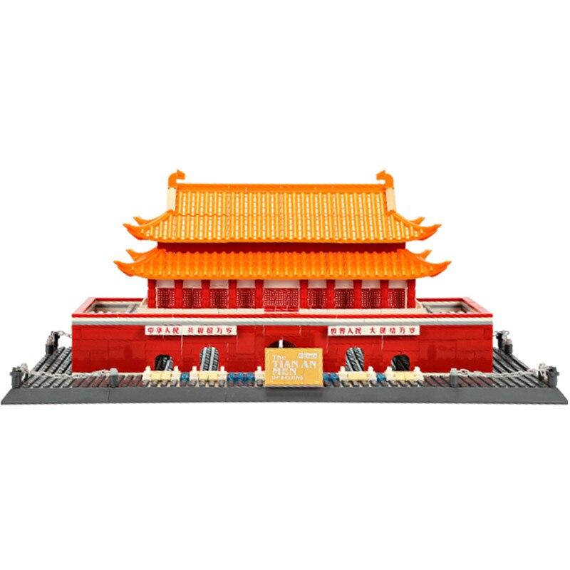 Large Action Building Bricks Sets Model Kits 758PCS Architecture Series Kids Educational Toys 8016 hm136 57pcs large particle building