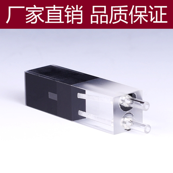 100ul 10mm Path Length Quartz Flow Cuvette Flow Cell With Glass Tube(100ul) 1