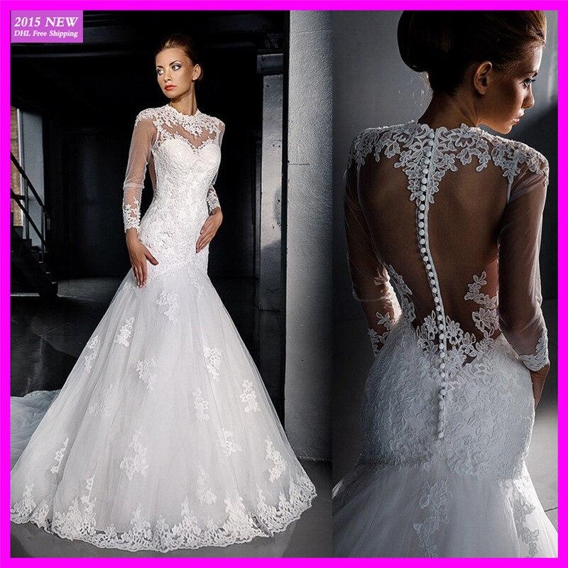 Aliexpress.com : Buy Fancy See Throguh Long Sleeve Vinatge Lace ...