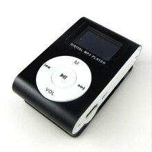 Мини-usb-зажим ЖК-дисплей Экран MP3 музыкальный плеер Поддержка 32 Гб SD/TF карты MP3 плеер USB для шнуров наушников спортивный металлический музыкальный плеер