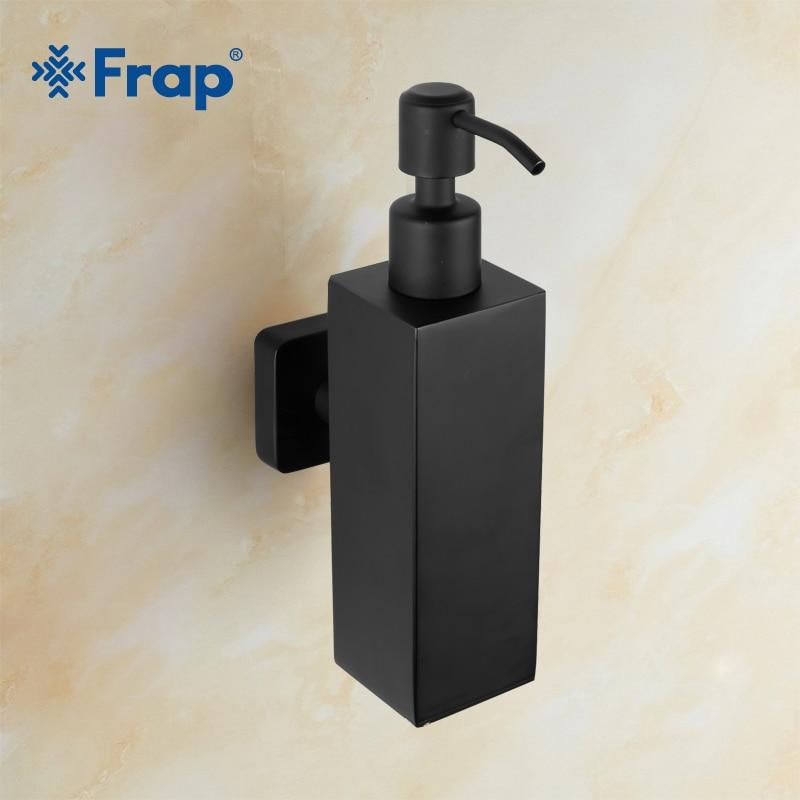 Frap New Bathroom Liquid Soap Dispensers Detergent Dispenser for Kitchen Stainless Steel Black Hand Soap Dispenser Y18006 11 11 free shippinng 6 x stainless steel 0 63mm od 22ga glue liquid dispenser needles tips