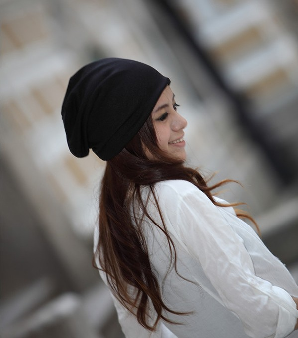 20 Color Choices, Beanies, Winter Women's Hat, Cotton Solid High Casual Skullie's 4