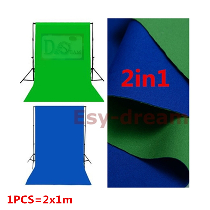 Double Faced Blue Green 2M 6.5FT Cotton Polyester Foto Photo Photography Backdrops Background Cloth For Studio Flash Chromakey 3 5m vinyl custom photography backdrops prop nature theme studio background j 066