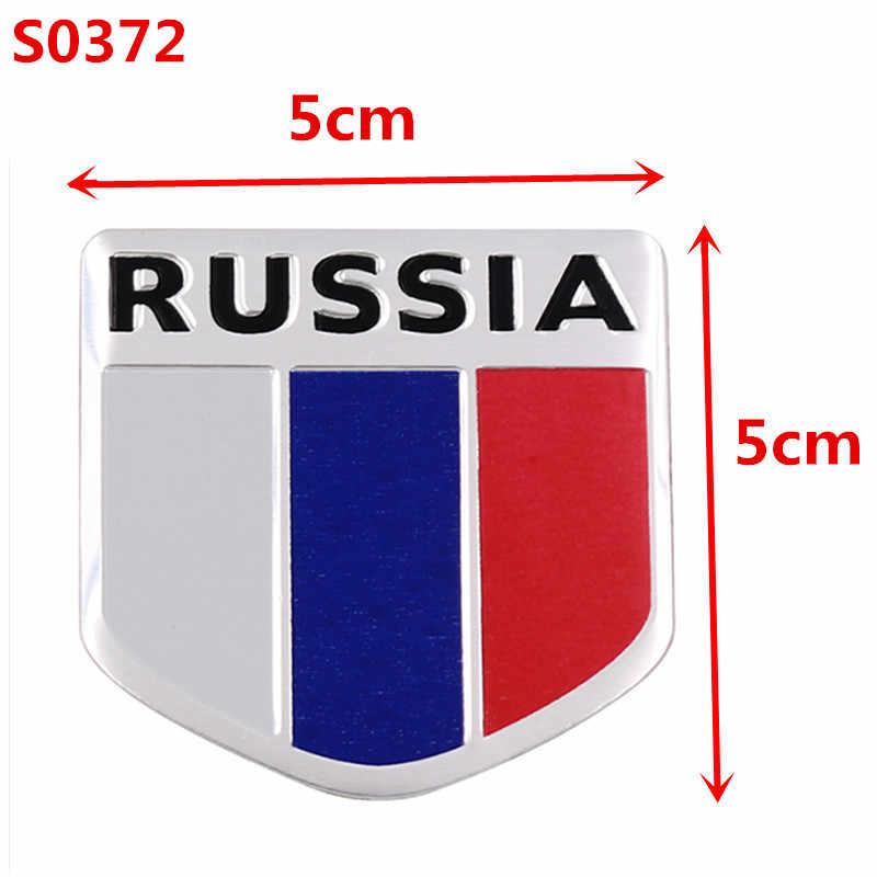 3D алюминиевый флаг России значок эмблема 3M стикер автомобильные аксессуары мотоциклетная наклейка с велосипедом на стену для VW Audi Chevrolet Honda Skoda Ford