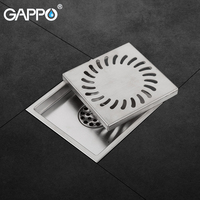 GAPPO Drains Stainless Steel Anti odor Bathroom Floor Cover Drainers Shower Drains Bathroom Drainers Stopper Waste Hair Trap