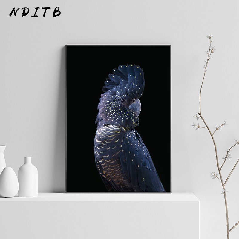 Black And White Canvas Poster Animal Cockatoo Bird Print Wall Art Painting Nordic Decoration Picture Modern Lving Room Decor