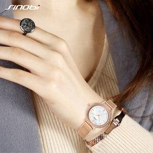 Image 3 - SINOBI reloj de marca de lujo para mujer, elegante, de cuarzo, resistente al agua, de pulsera, informal, femenino