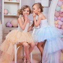 Новые платья для девочек с цветами милое праздничное платье