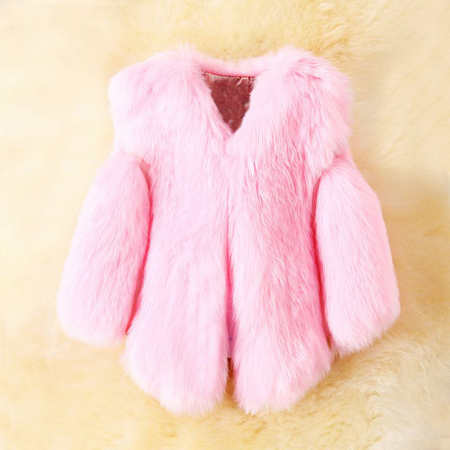 b11feb685307 Girls Faux Fox Fur Vest 2017 Brand Winter Warm Kids Fur Vests for ...