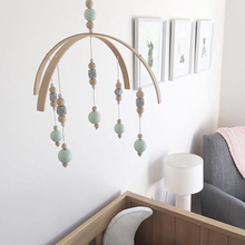Wooden Beads Wind Chimes Nordic Style Wind Bell for Kids Room Bed Hanging Decor Tent Decor Photography Props Gifts