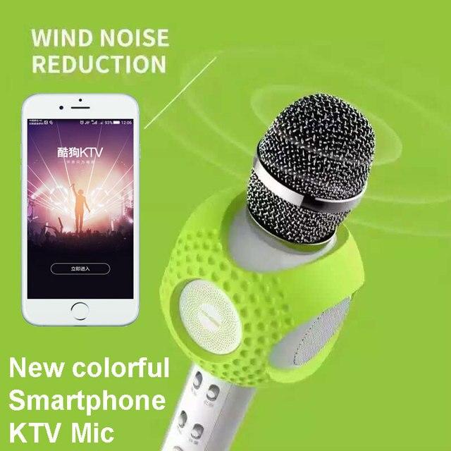 2017 новый беспроводной микрофон караоке красочные live mobile петь КТВ караоке беспроводной стерео микрофон для Смартфонов iphone XT5