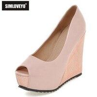 Brand Open Toe Women High Heels Wedges Platform Sandals Shoes Women Big Size 33 41 Summer