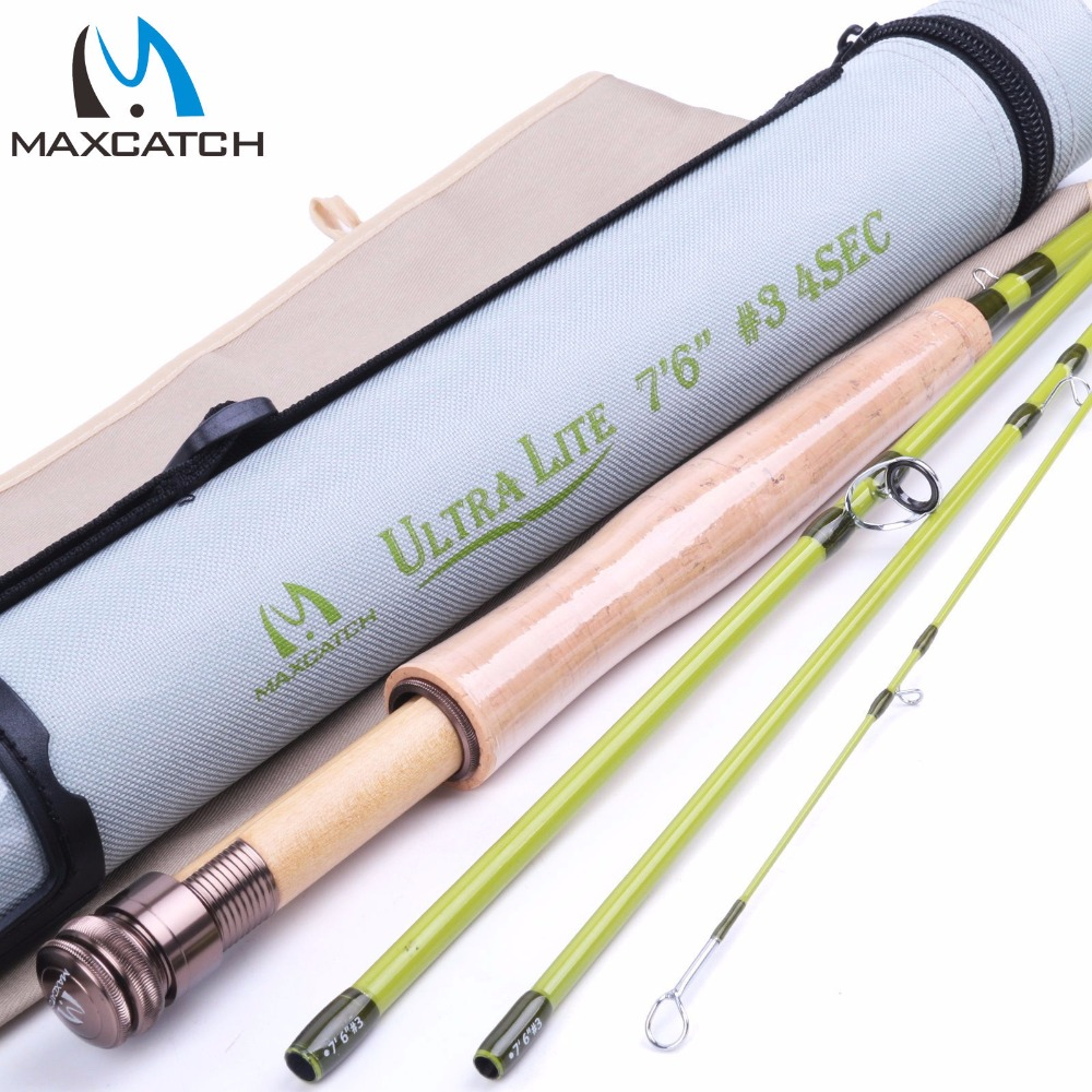 Maximumcatch 3WT Fly Rod 7.5FT 4Sec Medium-fast Fly Fishing Rod For Small Stream/Trout