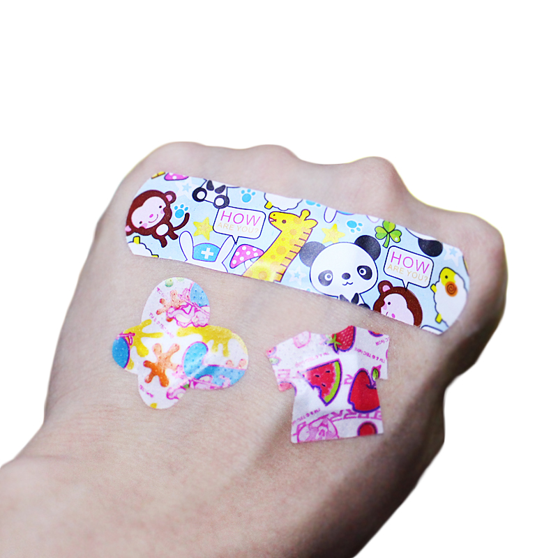 200PCS Cartoon Band-Aid Children Kids Breathable Hemostasis Adhesive Bandages Acne Mini Band-aids Household First Aid Supplies