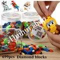 699 UNIDS Creativo DIY Bloques de Construcción Bloques de Diamantes Figura de Acción de Modelo En Miniatura de Ladrillo Bloques de Juguetes Educativos Para Niños