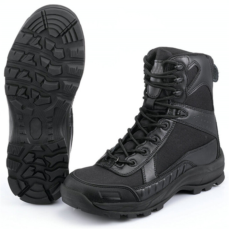 Special Forces Military Boots Tactical Combat Boots Outdoor Hiking Fishing Travel Hunting Shoes Black brand fishing waders security staff special forces shoes ski bodyguard women trekking tactical desert climb combat land boots