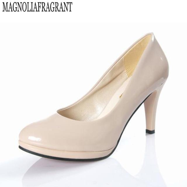 Witte Werkschoenen.De Nieuwe Vrouw Schoenen Waterdichte Hakken Zwarte Werkschoenen Rode