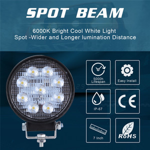 Image 4 - 2x LED מנורות עבור מכוניות LED עבודה אור תרמילים 4 אינץ 90W עגול ספוט Beam Offroad נהיגה אור בר luces Led Para אוטומטי
