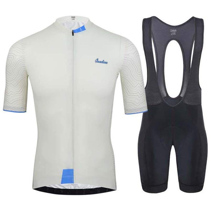 ISADORE cycling jersey set short sleeve men road bike mountain mtb pro team sets bicycle cycle clothing Maillot Sponge Pants Pad