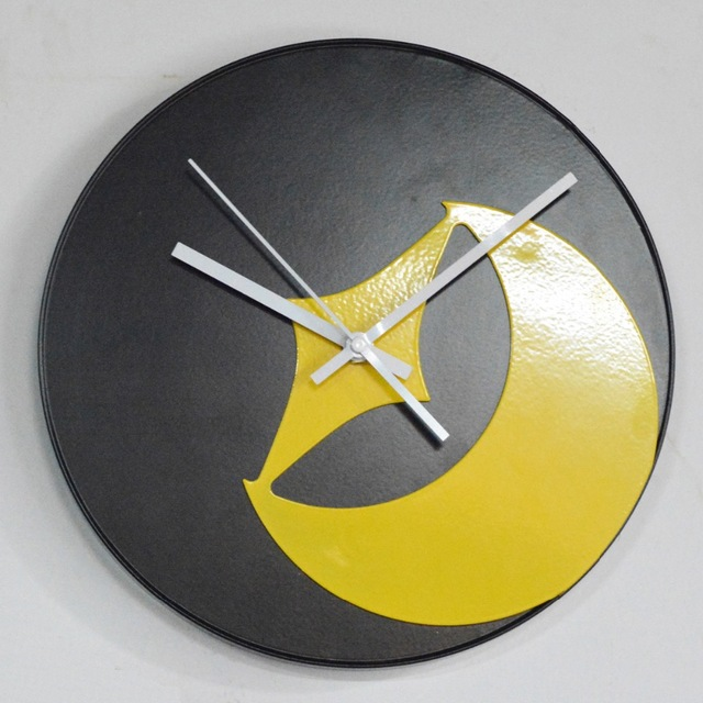Hot Selling Black Metal Circle Clock Modern Digital Wall Clock for ...