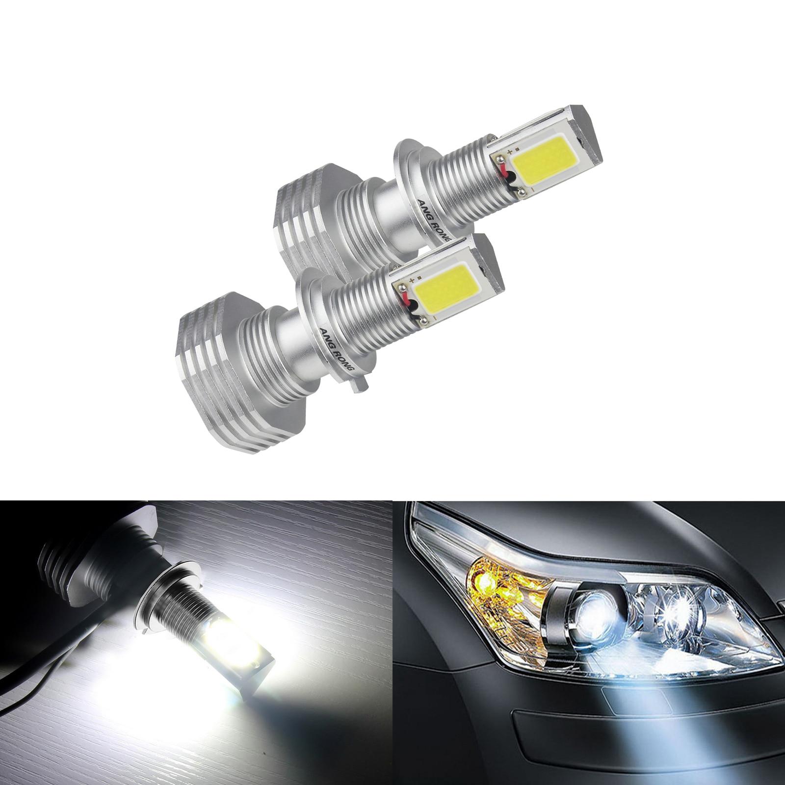 ANGRONG 2 pièces H7 haute puissance 60 W COB LED lumière de phare blanc pas d'erreur pour Audi Mini