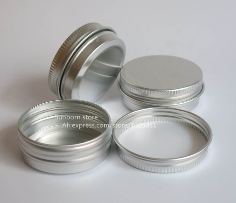 100 x small 30g metal tins aluminum candy jarssilver cosmetic