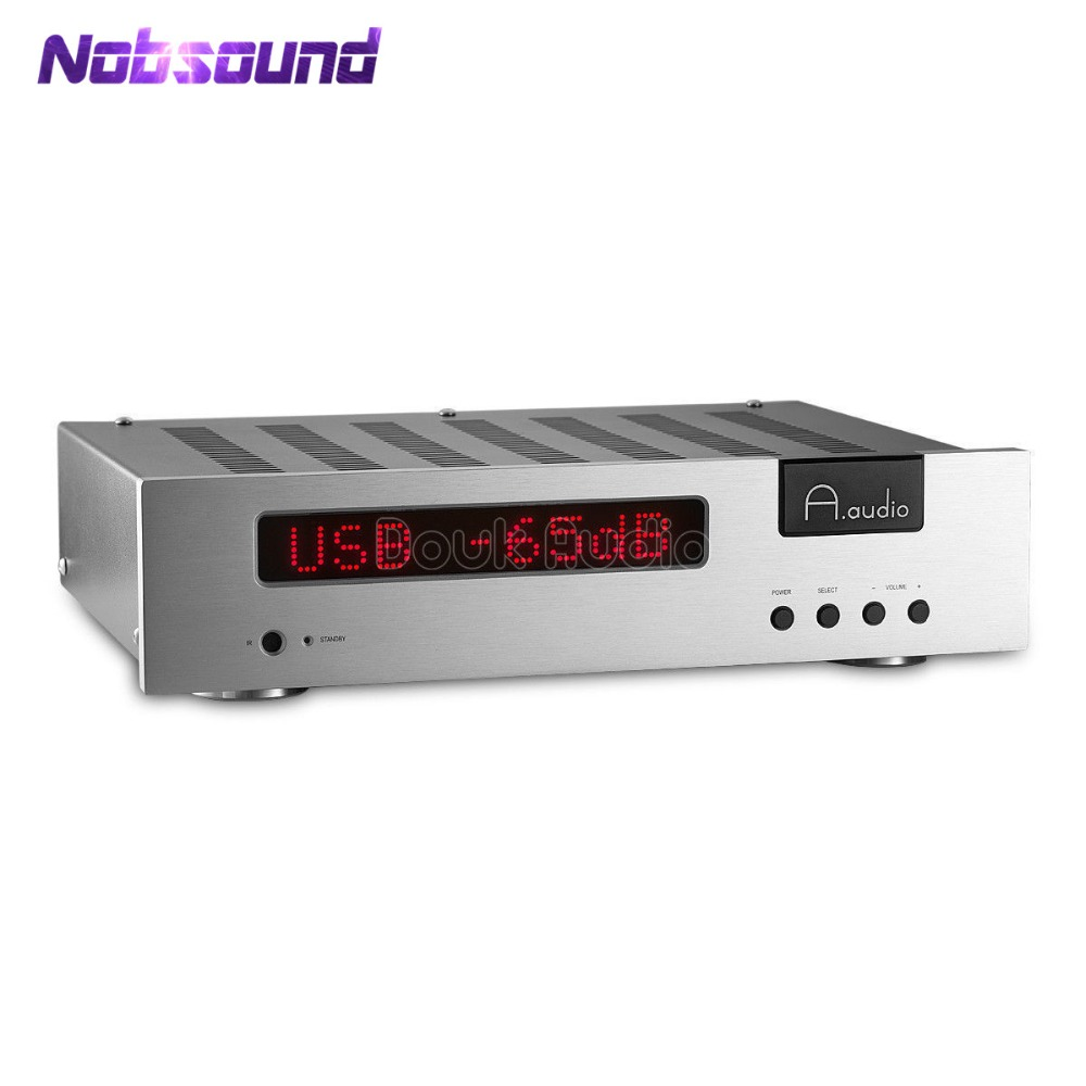 2018 Nobsound Hi-End Integrated Amplifier Class AB Stereo HiFi Power Amp Audio USB DAC GE5670 Tube Pre-Amplifier 70W*2 nobsound hi end audio noise power filter ac line conditioner power purifier universal sockets full aluminum chassis