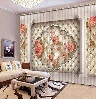 3D Шторы розовый Европейский Стиль 3D окна Шторы для Постельные принадлежности комната украшения дома