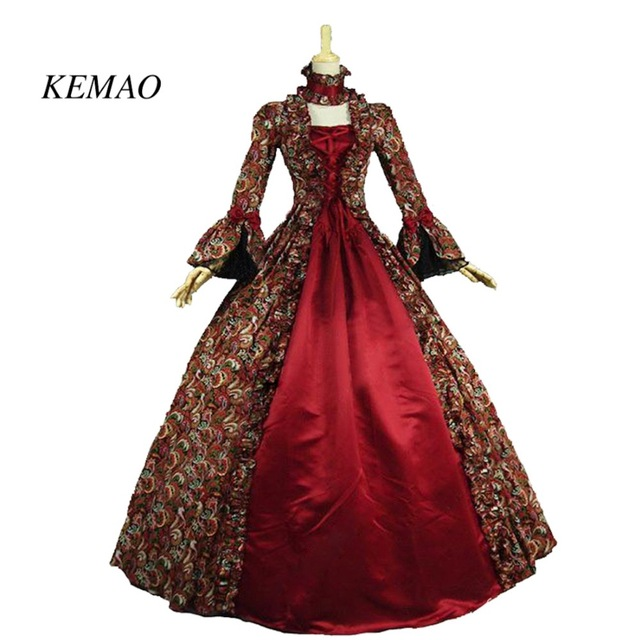 566a09cbc0f8 Free shipping KEMAO Sell like hot cakes dress Georgian Gothic Dress Prom Gown  Wedding Theatre Clothing Dress