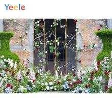 Yeele Wedding Ceremony Flowers Wall Patio Vitality Photography Backdrops Personalized Photographic Backgrounds For Photo Studio