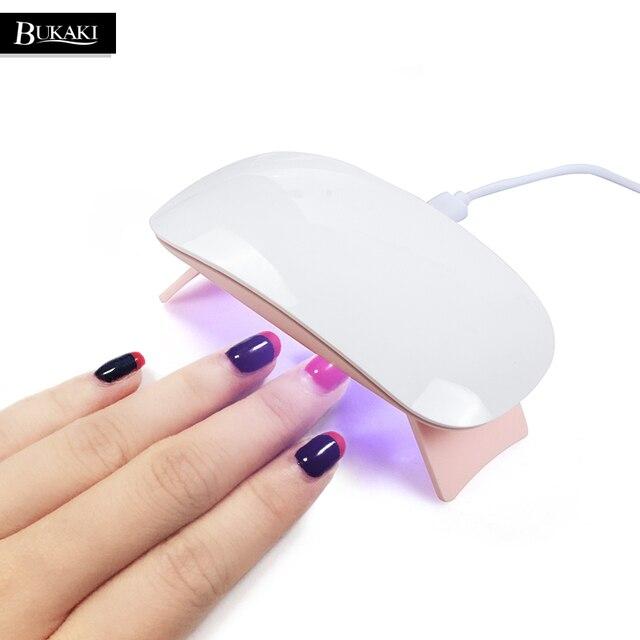 BUKAKI 6W Sun Mini Nail Lamp UV Gel Nail Polish Manicure Dryer USB Portable  Cable Curing