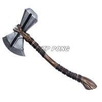 94cm Avengers Endgame Superhero Thor Stormbreaker Weapons Resin 1:1 Thor Thunder Hammer Axe Cosplay Action Figure Model Toy