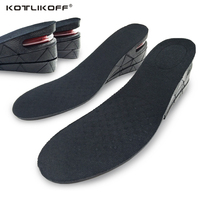 3 Layer 6CM Height Increase Insoles Adjustable Ergonomic Design Air Cushion Invisible Lift Pads Soles For