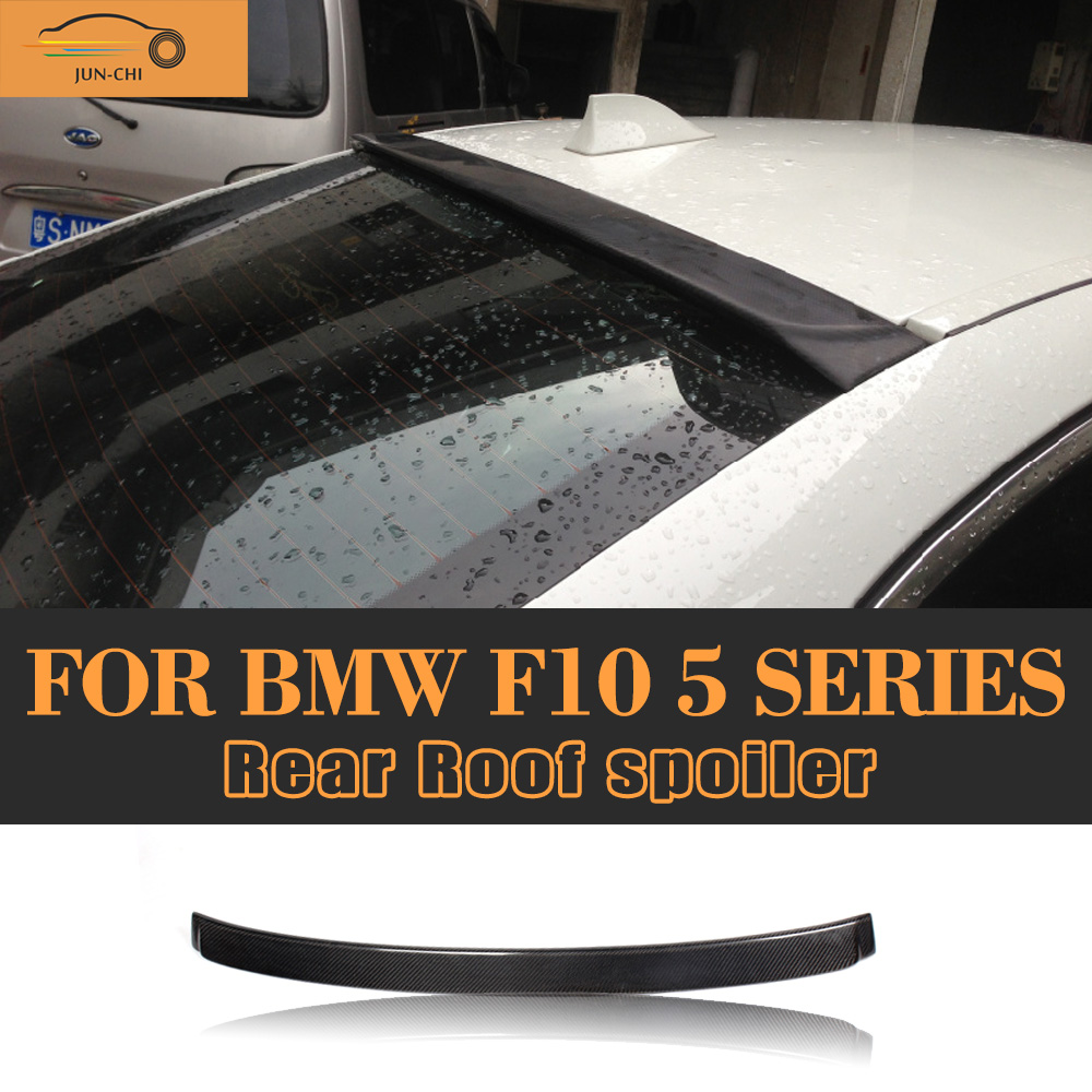 Carbon fiber rear roof spoiler wing for bmw f10 5 series 520i 525i 528i 535i 550i 2011 2012 2013 car cover