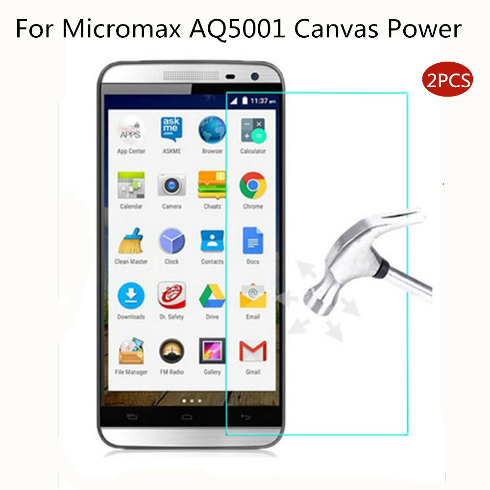 "2.5D Tempered Glass For Micromax AQ5001 Canvas Power 5.0"" 9H High Quality Explosion-proof Protective Screen Protector film"