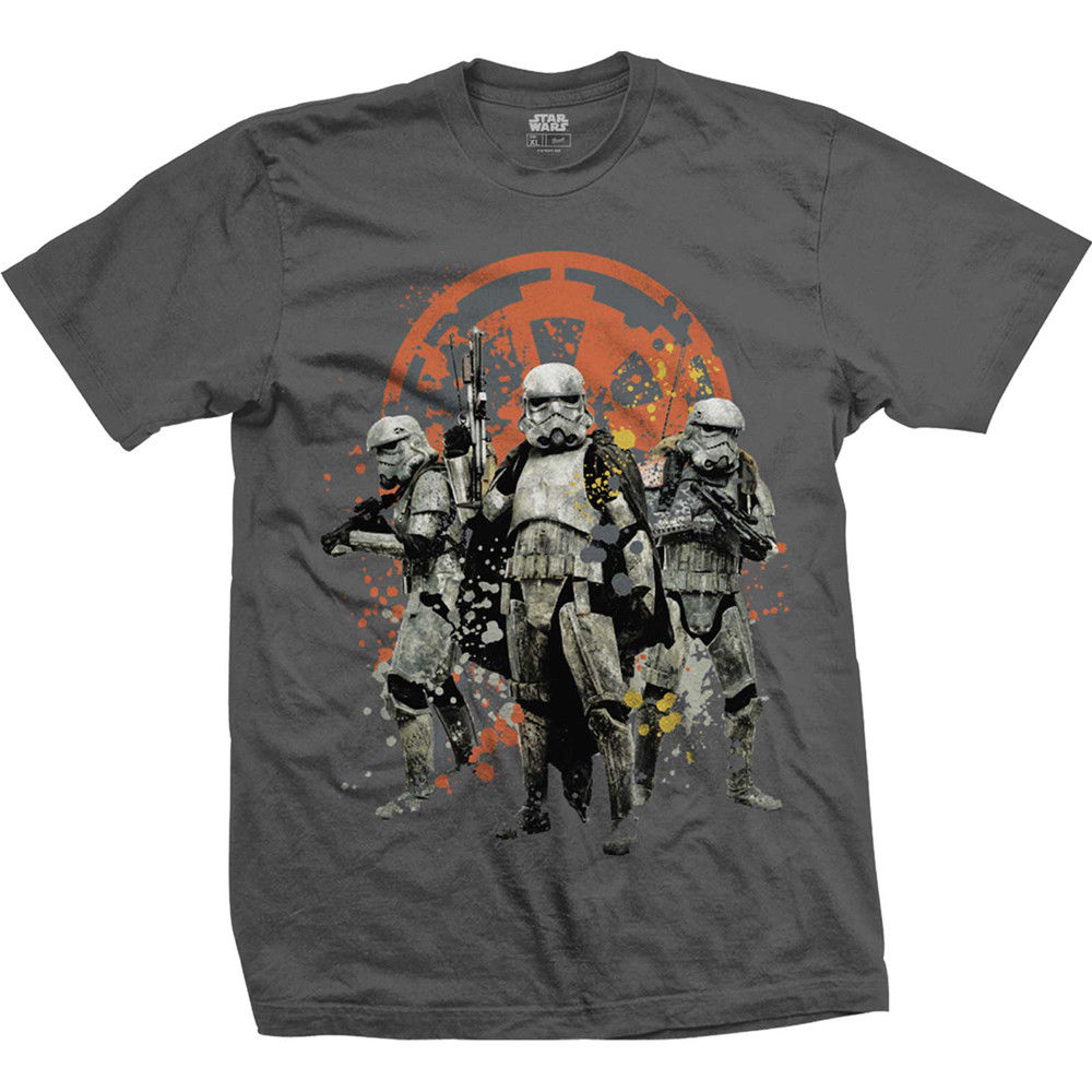 Star Wars Han Solo Movie Troopers Grey Mens T-shirt Free Shipping  Harajuku Tops Fashion Classic Unique Cotton   O-Neck T Shirt