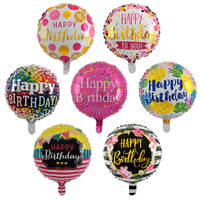 Event & Party Brilliant New 1pcs Foil Aluminum Balloons Happy Birthday Balloons Wholesale Childrens Toys Wedding Party Round Balloon And Digestion Helping