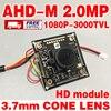 3000TVL 1920 1080p 3 7mm AHD 2 0MegaPixel HD MINI CCTV Camera Module Circuit Board