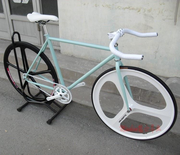 Magnesium Alloy 700C 3 spokes wheel road bicycle Fixed Gear Bike DIY ...