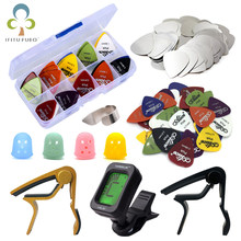 Guitar Tool Kit Guitar Capo / Guitar Picks / Tunner / Fingertip Protector Parts Accessories GYH(China)