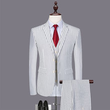 New Mens Suit with Pants Groom Tuxedos 3 Pieces( Jacket+Pants+Vests) Groomsmen Best Men Wedding Latest Coat Designs