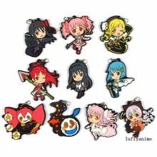 Puella Magi Madoka Magica Rubber pendant  Japanese anime cartoon PVC Toy Figures Mobile Phone Accessories strap Keychain