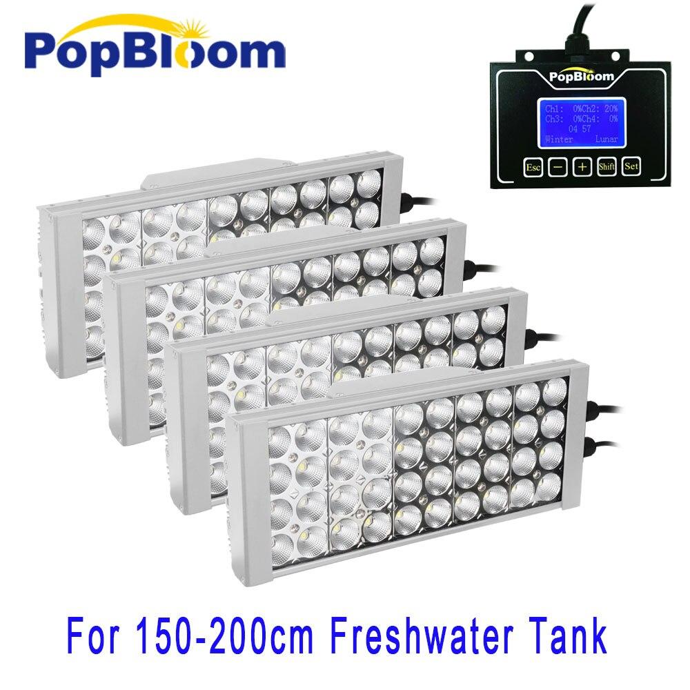 PopBloom programmable smart led aquarium light 150cm freshwater plant tank fish sunsun free daisy chain led