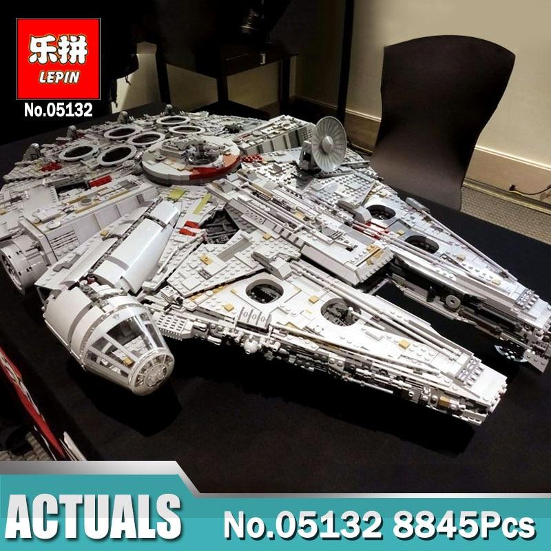 DHL Lepin Wars Sur Étoiles 05132 Star Destroyer Millennium Falcon LegoINGlys 75192 blocs de construction jouets éducatifs pour Enfants