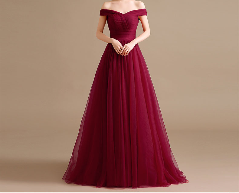 Cap Sleeves Burgundy Prom Dresses 2019 Robe Longue New