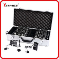 Wireless Tour Guide Equipment Audio Guide System YARMEE YT100 Full Set 2 Transmitters 60 Receivers Charger