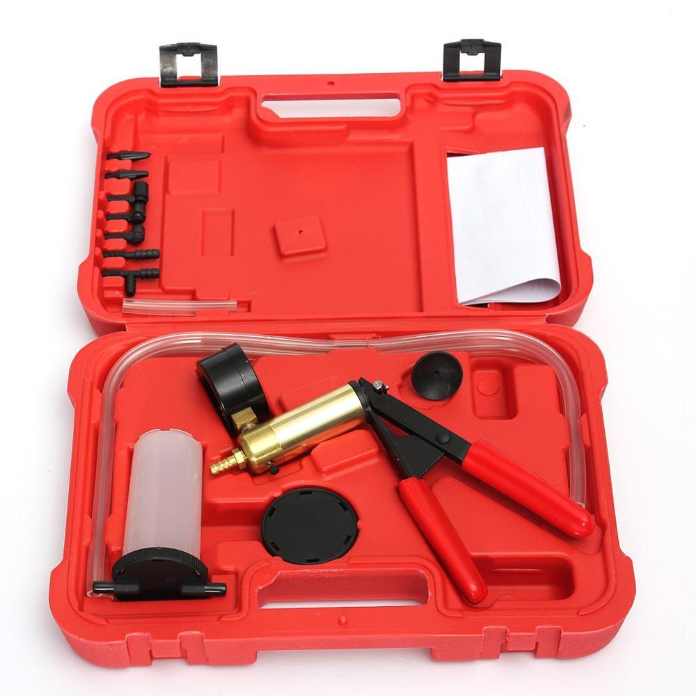 1Pack Brand New Car Auto Hand Held Vacuum Pump Brake Bleed Fluid Reservoir Tester PRESSURE GAUGE Brake Oil Change Tools Hot Sale